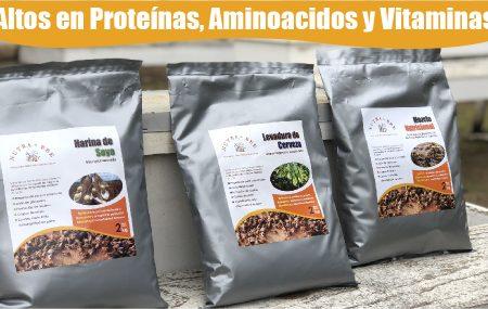Altos en proteínas, aminoácidos y vitaminas...